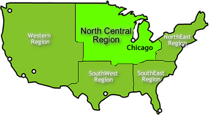 USA Attractions Guide USA Northern Region Attractions - Us northern region map