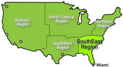 USA Attractions Guide USA South Eastern Region Attractions