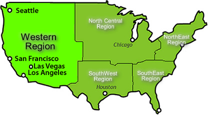USA Attractions Guide USA Western Region Attractions - Us map with attractions