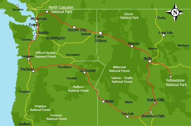 Jurnii Rv Rentals Northwest Usa 13 Days Itinerary 2 368 Miles